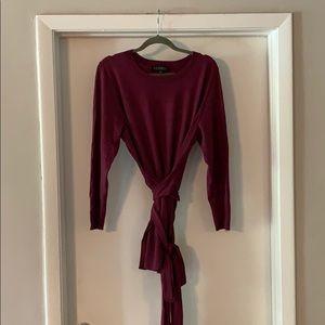 Eloquii Tie Waist Tunic Sweater